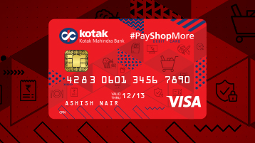 Debit Card Pay Shop More Debit Card From Kotak Bank