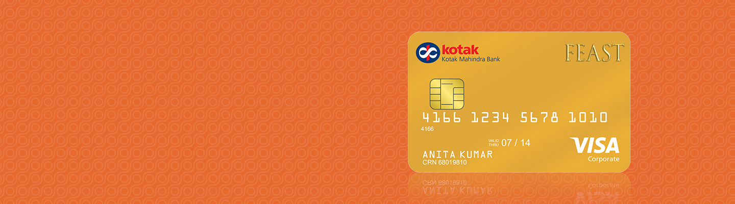 Credit Card Feast Gold Dining Credit Card By Kotak