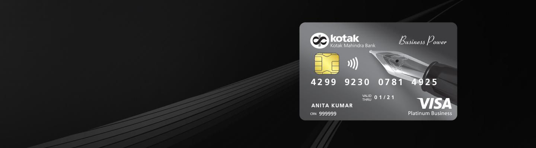Debit Card - Business Power Platinum Debit Card from Kotak Bank