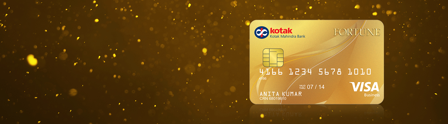 Fortune Gold Credit Card by Kotak Bank