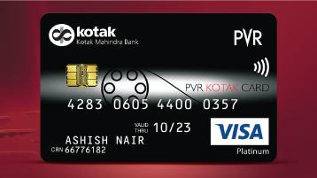 Credit Card Pvr Platinum Credit Card For Movies By Kotak Mahindra Bank