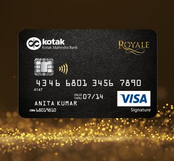 Credit Card Royale Signature Credit Card For Lifestyle Privilege By Kotak Mahindra Bank